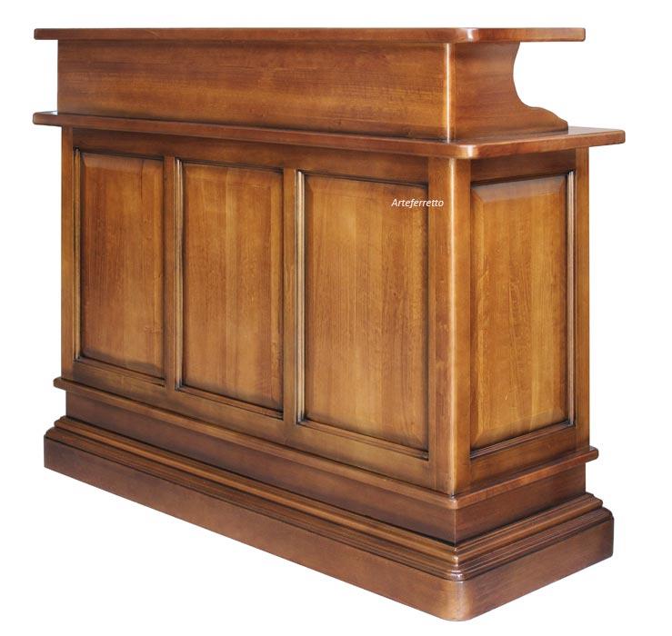 Bancone bar mobile in legno