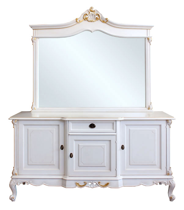 Credenza con specchiera in composizione classica
