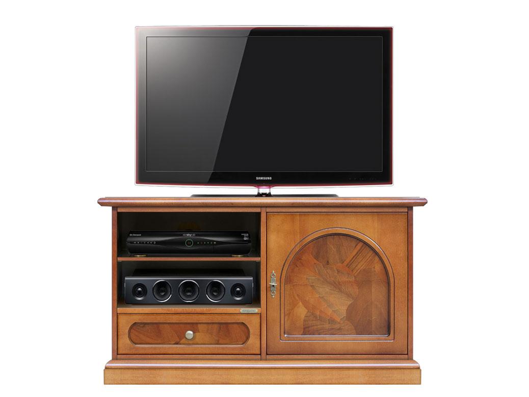 Mobile porta tv anta e cassetto con radica