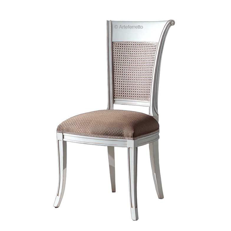 Sedia con schienale paglia di Vienna