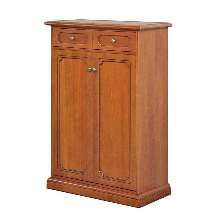 Scarpiera in legno 5 ripiani regolabili 'Tilly'