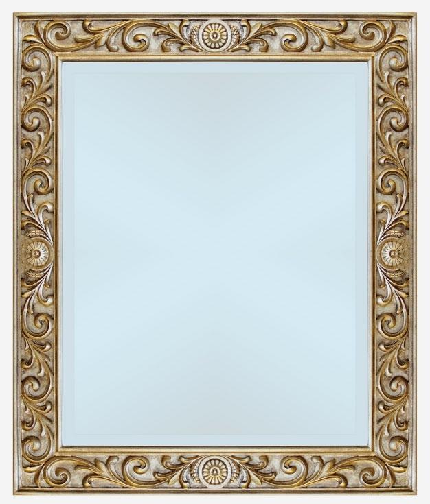 Specchiera con intagli in foglia