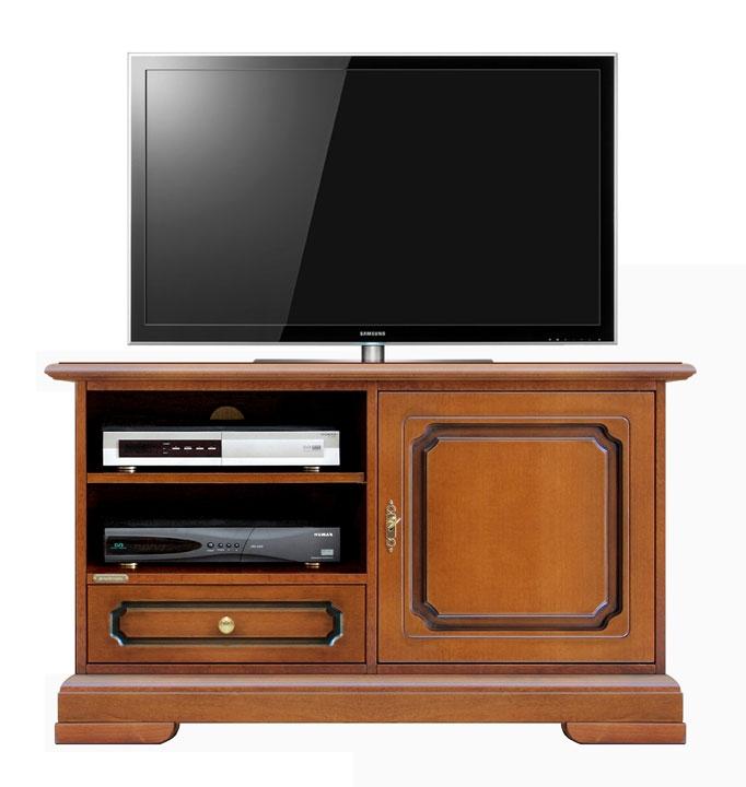 Porta TV midi classico con antina e cassetto
