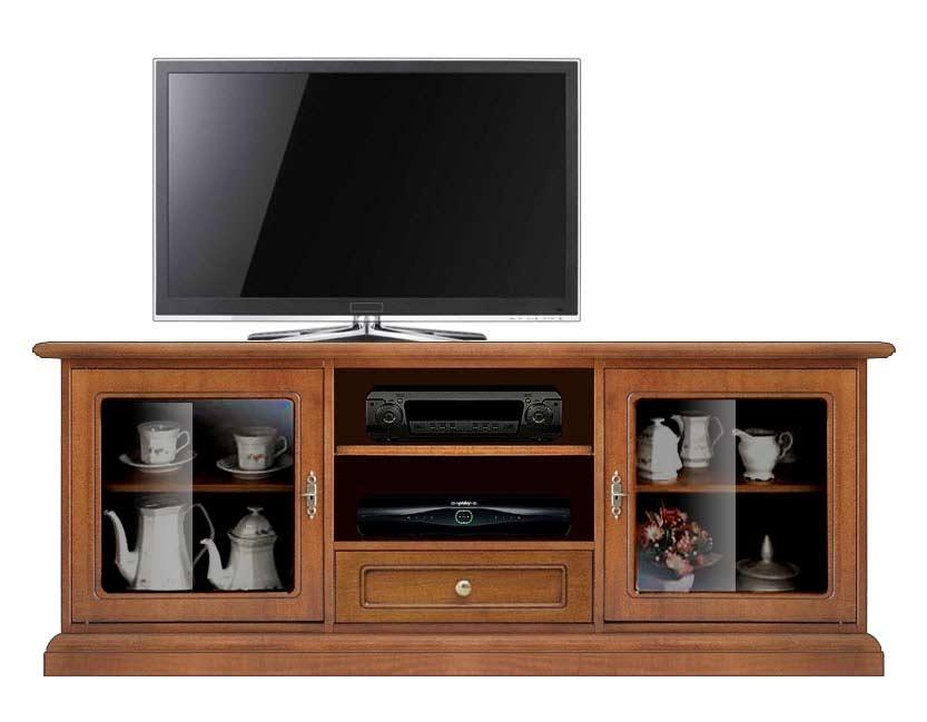 Porta tv basso anta a vetrinetta