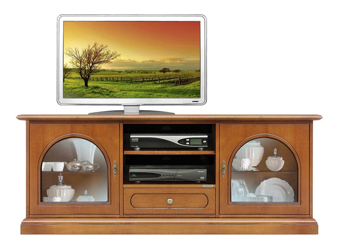 Mobile Porta Tv con ante vetrina e vani