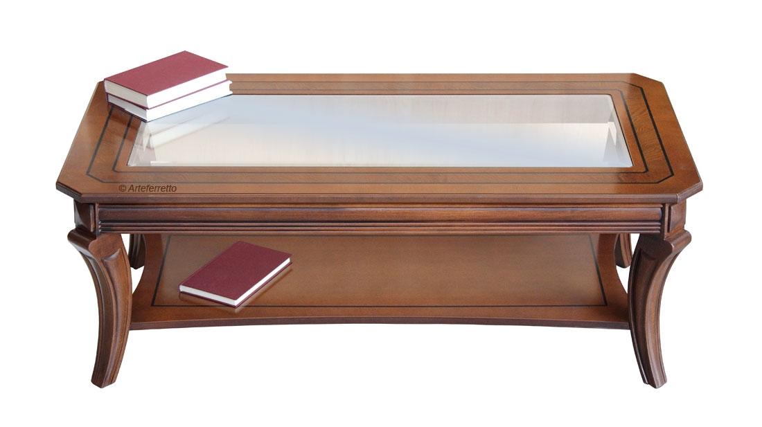 Tavolino rettangolare piano cristallo - OFFERTA