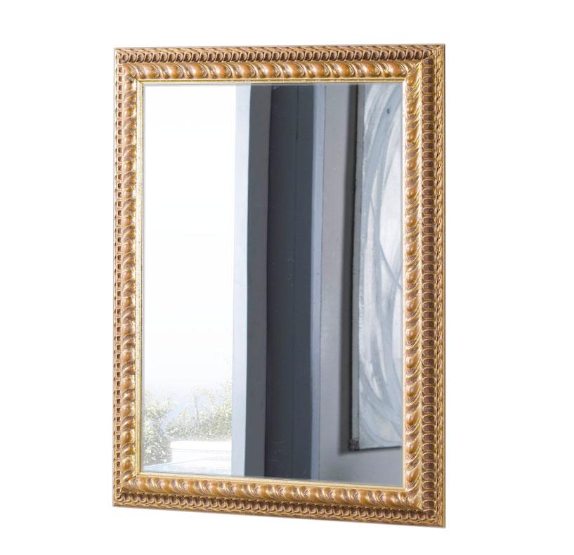 Specchiera foglia oro anticata