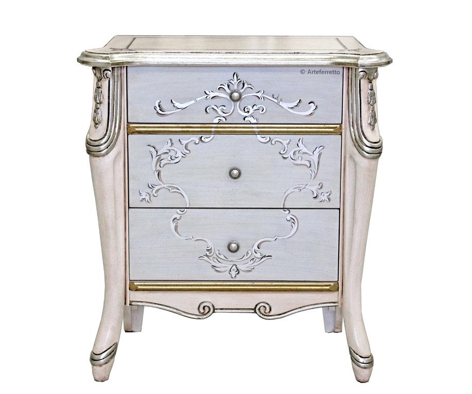 Comodino beautiful 'pink & silver'