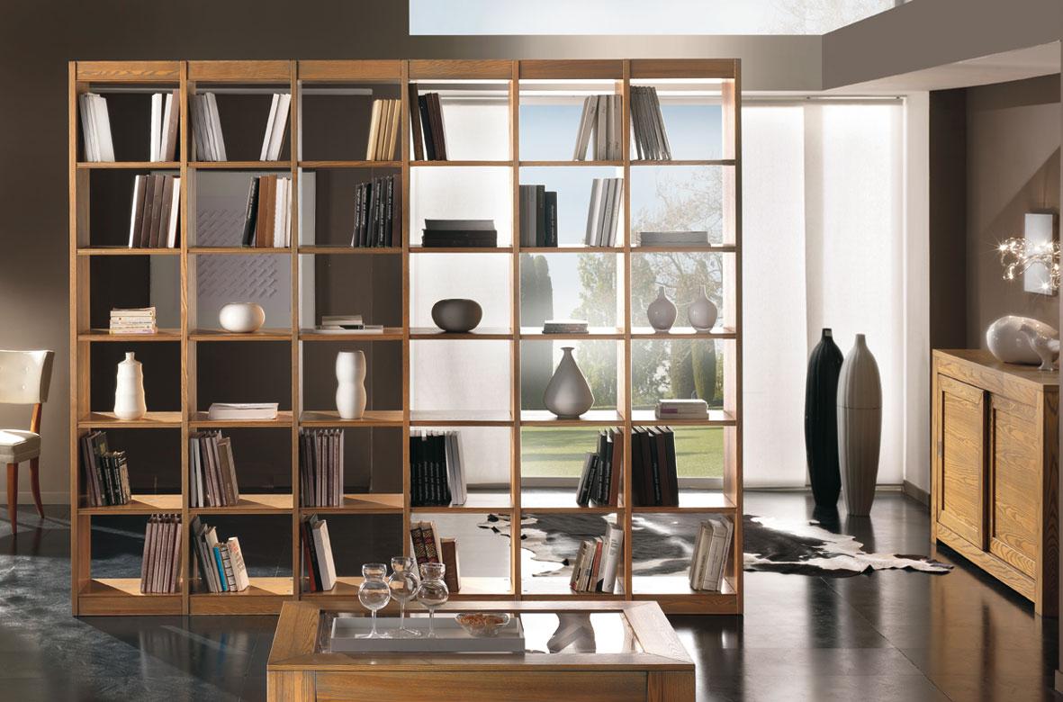 Libreria bifacciale in frassino
