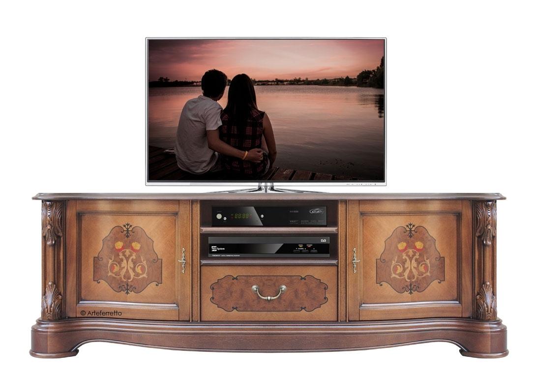 Mobile Tv superclassic con intarsi