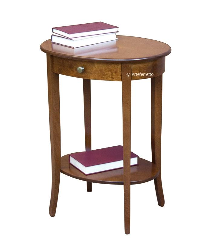 Tavolino ovale con cassettino