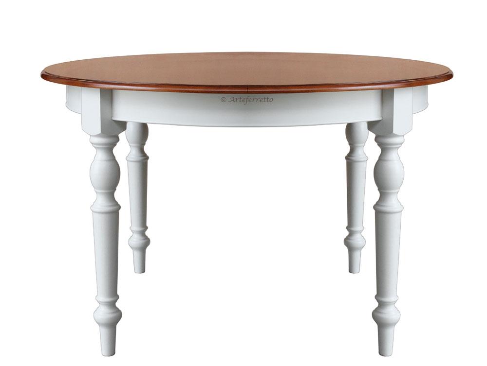 Tavolo rotondo bicolore 4 gambe