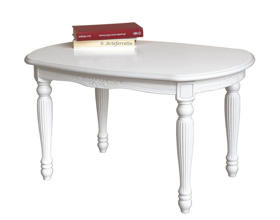 Tavolino ovale laccato 'Uni-style'