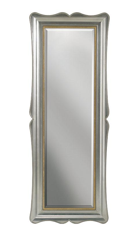 Specchiera verticale foglia argento e oro