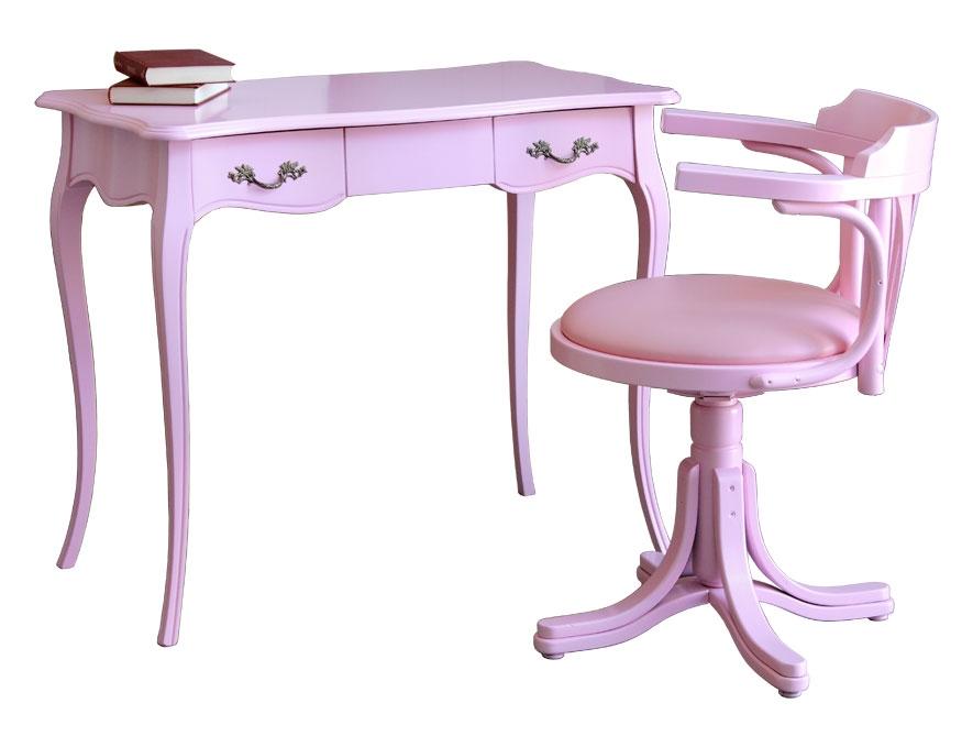 Doppio Pink scrittoio e sedia girevole