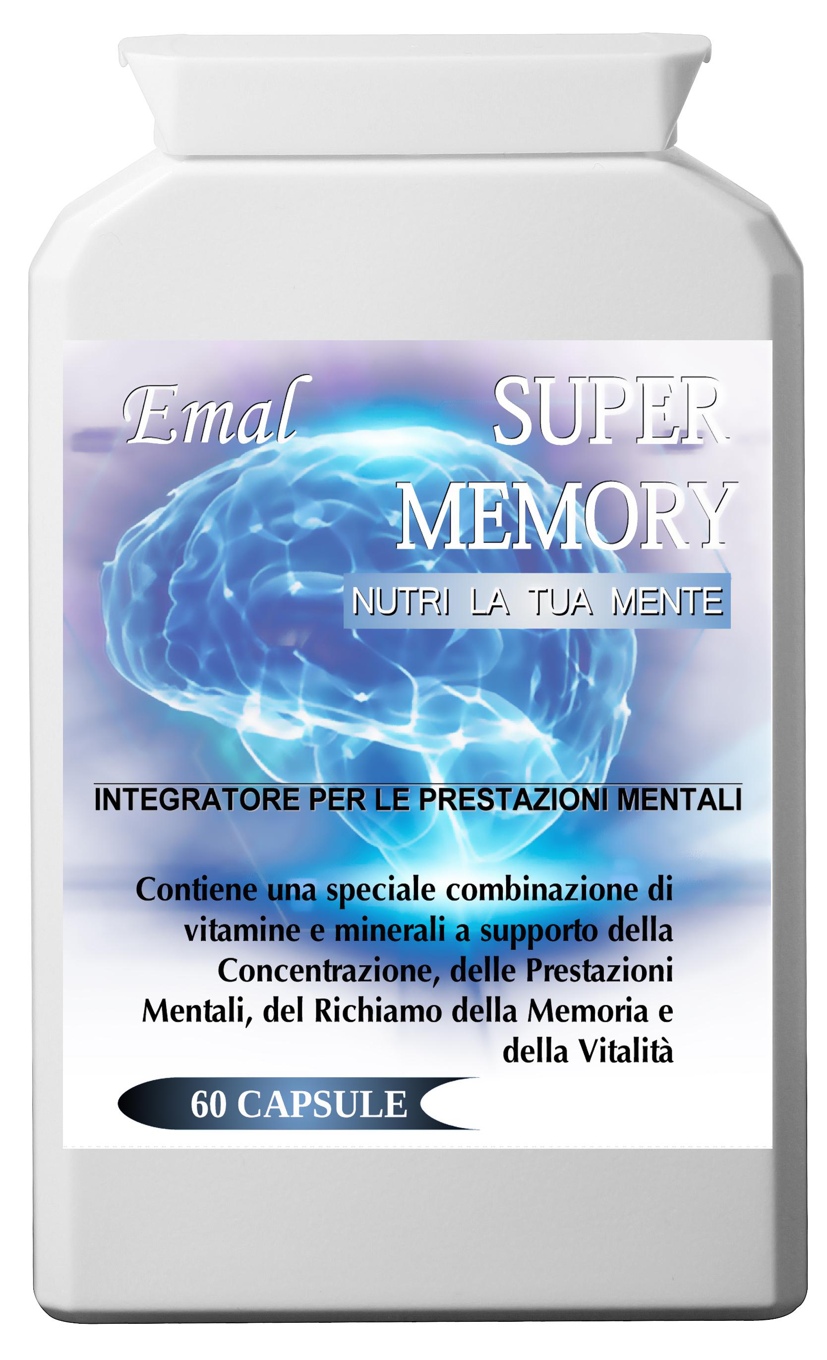 Emal Super Memory. Supplemento Nootropico Naturale 60 capsule