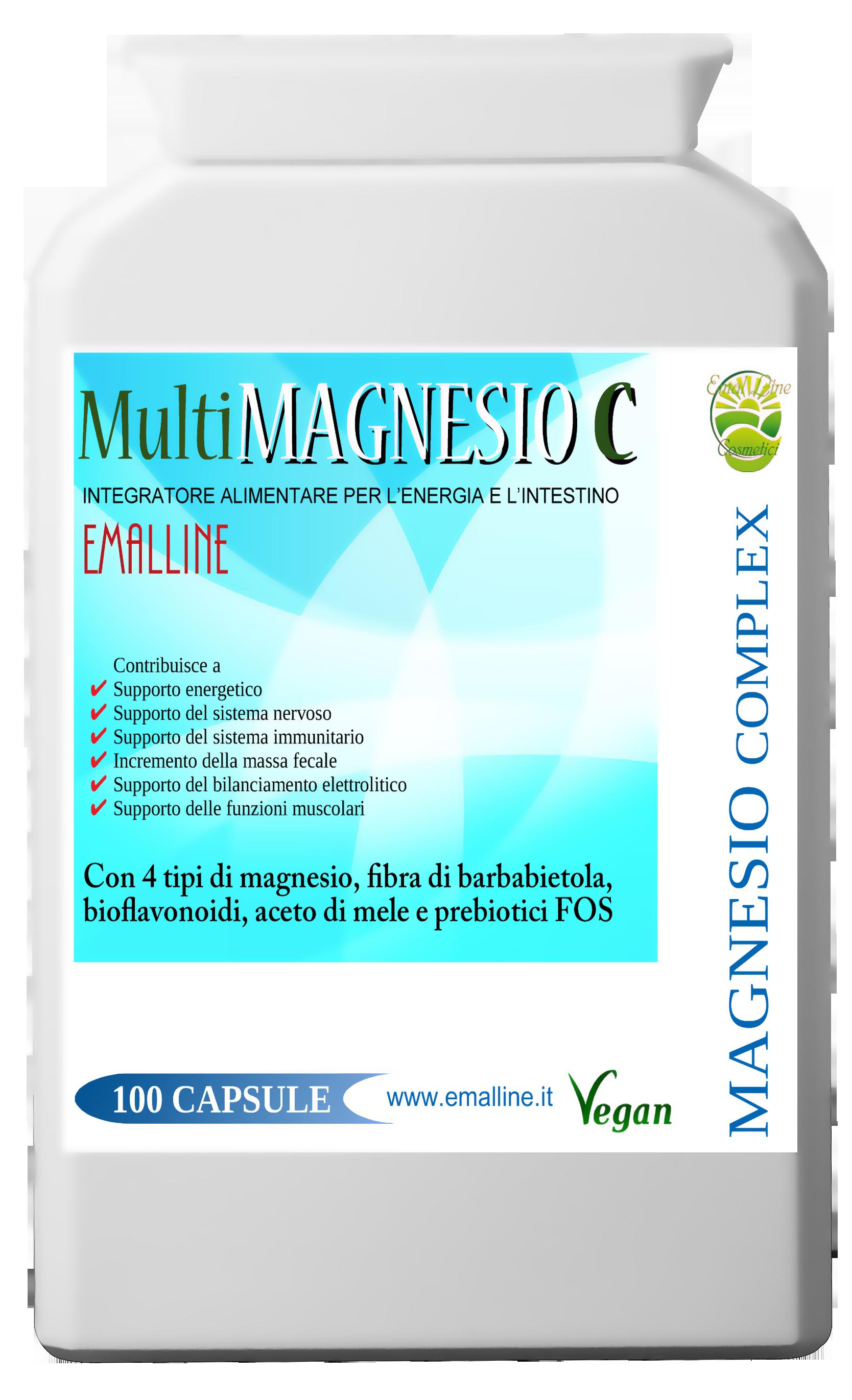 MultiMagnesio C. Funzione intestinale e affaticamento 100 capsule