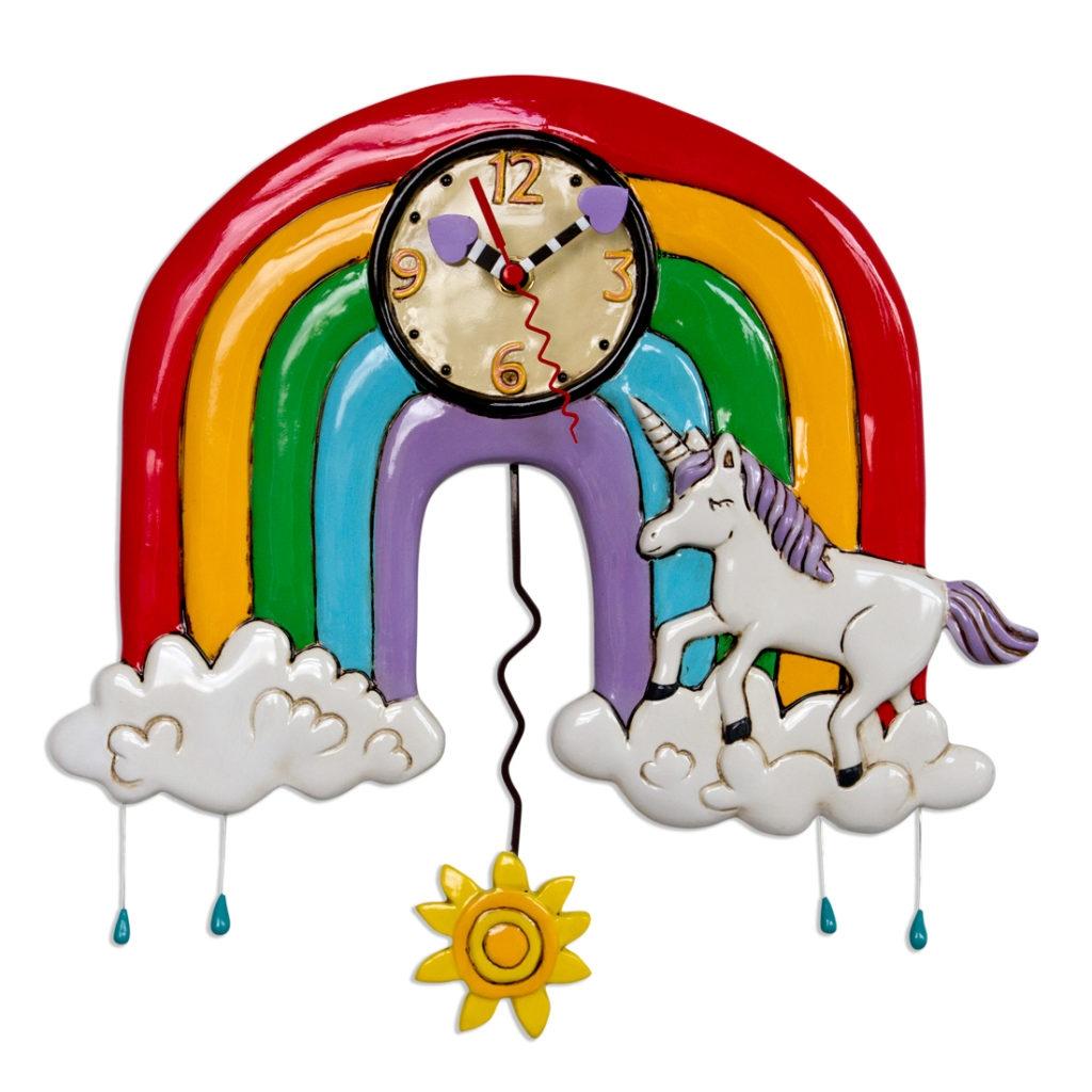 Orologio Arcobaleno con Unicorno