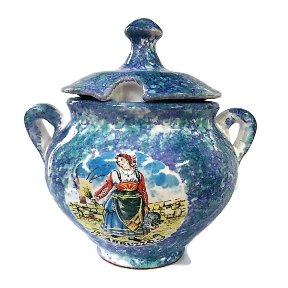 Porta zucchero Abruzzo ceramica souvenir
