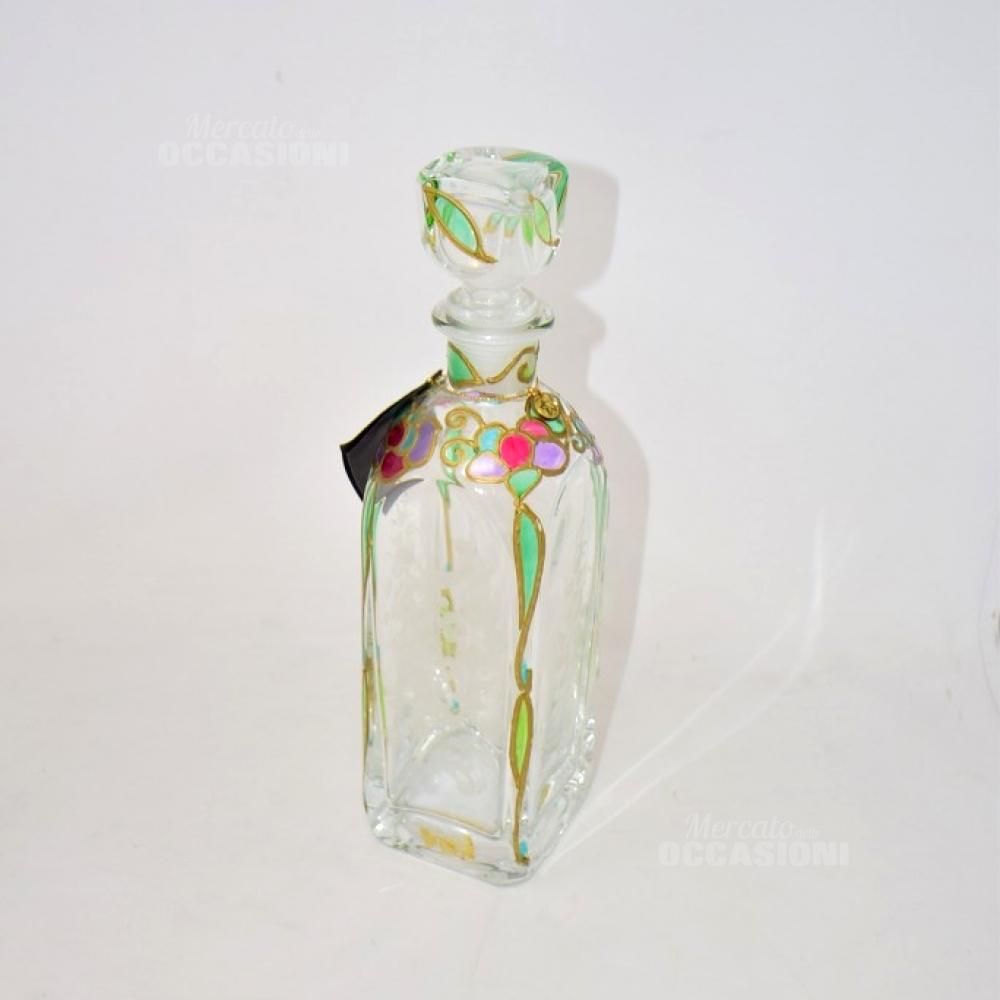 Bottiglia In Vetro Ricamo Colorato
