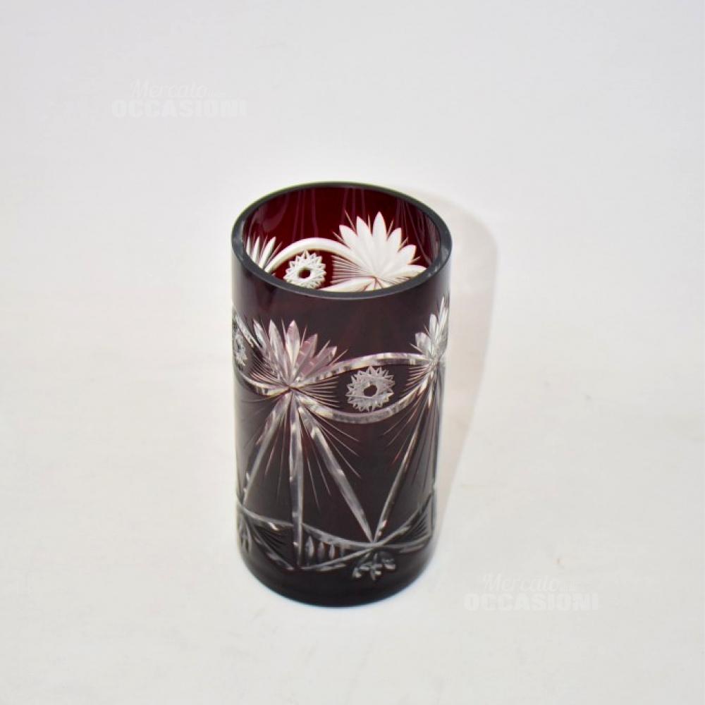 Vaso Rosso In Stile Vintage