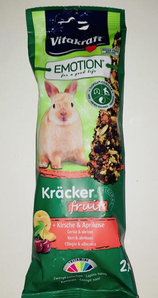 Vitakraft Emotion Kracker per conigli nani  fruit Albicocca e ciliegia 2 pz x 112 gr