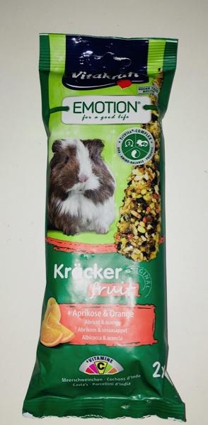 Vitakrat Emotion Kracker per porcelini d'India Albicocca e arancio 2 pz 112 gr