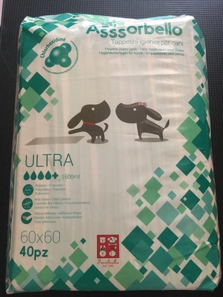 Assorbello Ultra con clorexidina  60x60 cm 50 pezzi