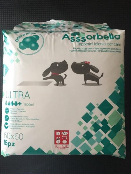 Assorbello Ultra con clorexidina 60x60 cm 15 pezzi