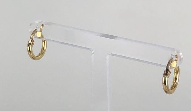 ORECCHINI A CERCHIO PICCOLI IN CANNA LUCIDA ORO 18KT DIAMETRO 1.10 CM