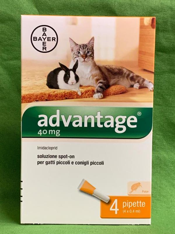 ADVANTAGE 40mg per gatti inferiori a 4kg