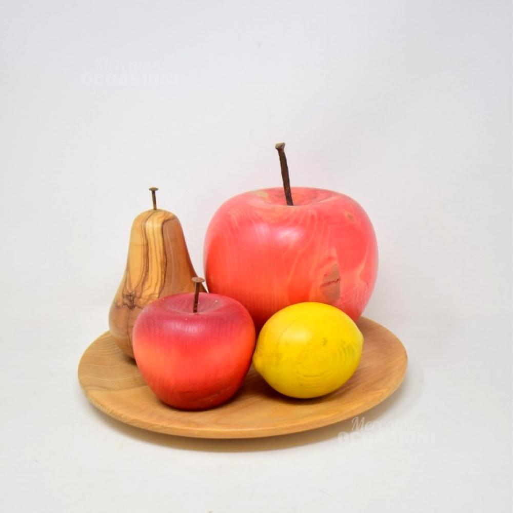 Centro Tavola Di Frutta In Legno Fatto A Mano