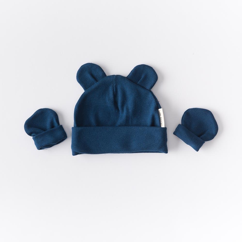 Cappellino con orecchie nero in cotone biologico 8abdc6ae6c3d