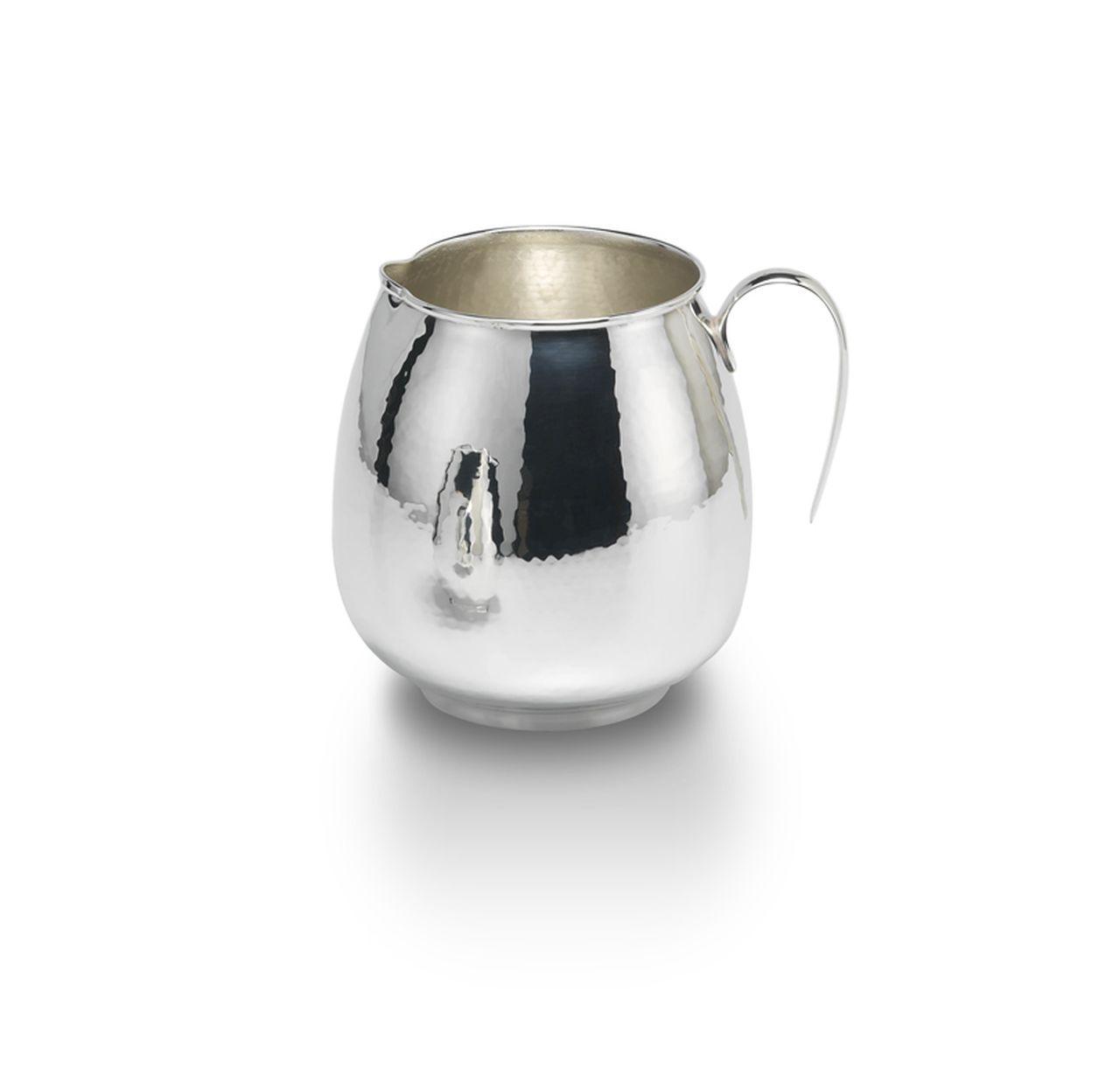Brocca con manico in metallo placcato argento stile Inglese cm.16h diam.11
