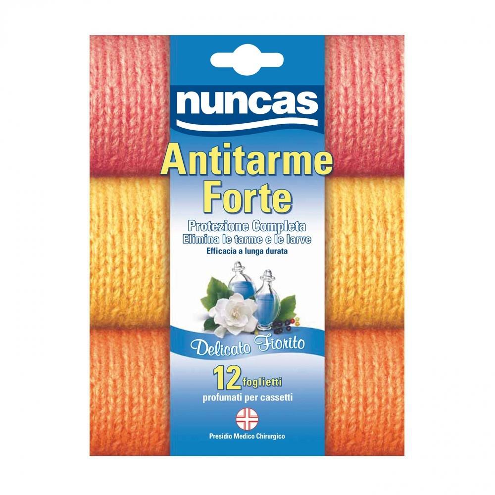 NUNCAS Protezione Antitarme Forte Delicato Fiorito 12 Foglietti