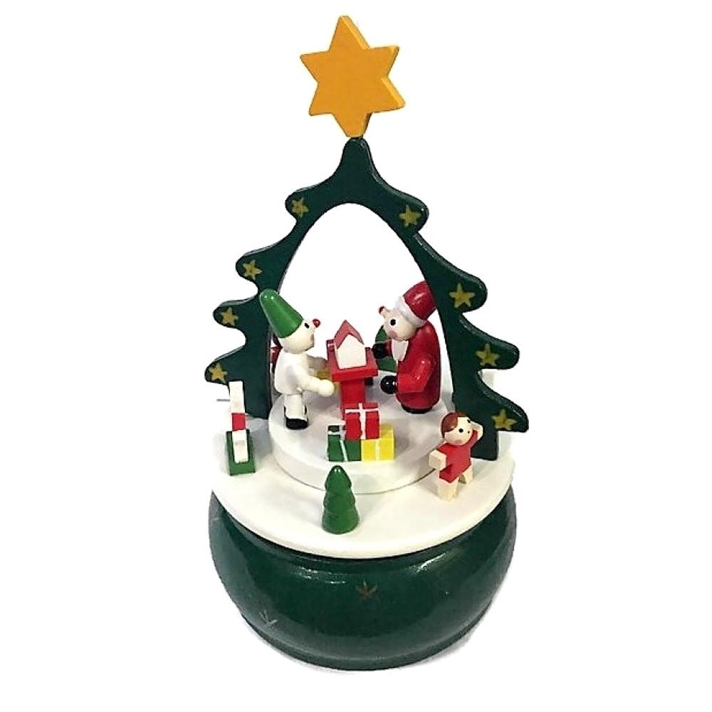 Carillon paesaggio Natale in legno