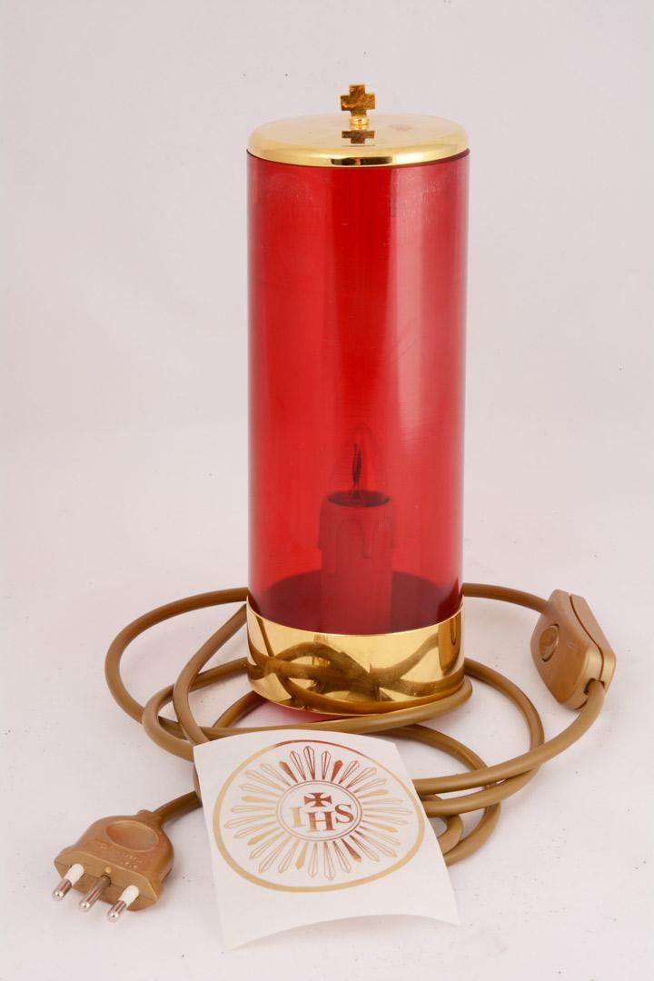 Vetro Rubino in Plexiglass con Impianto Elettrico