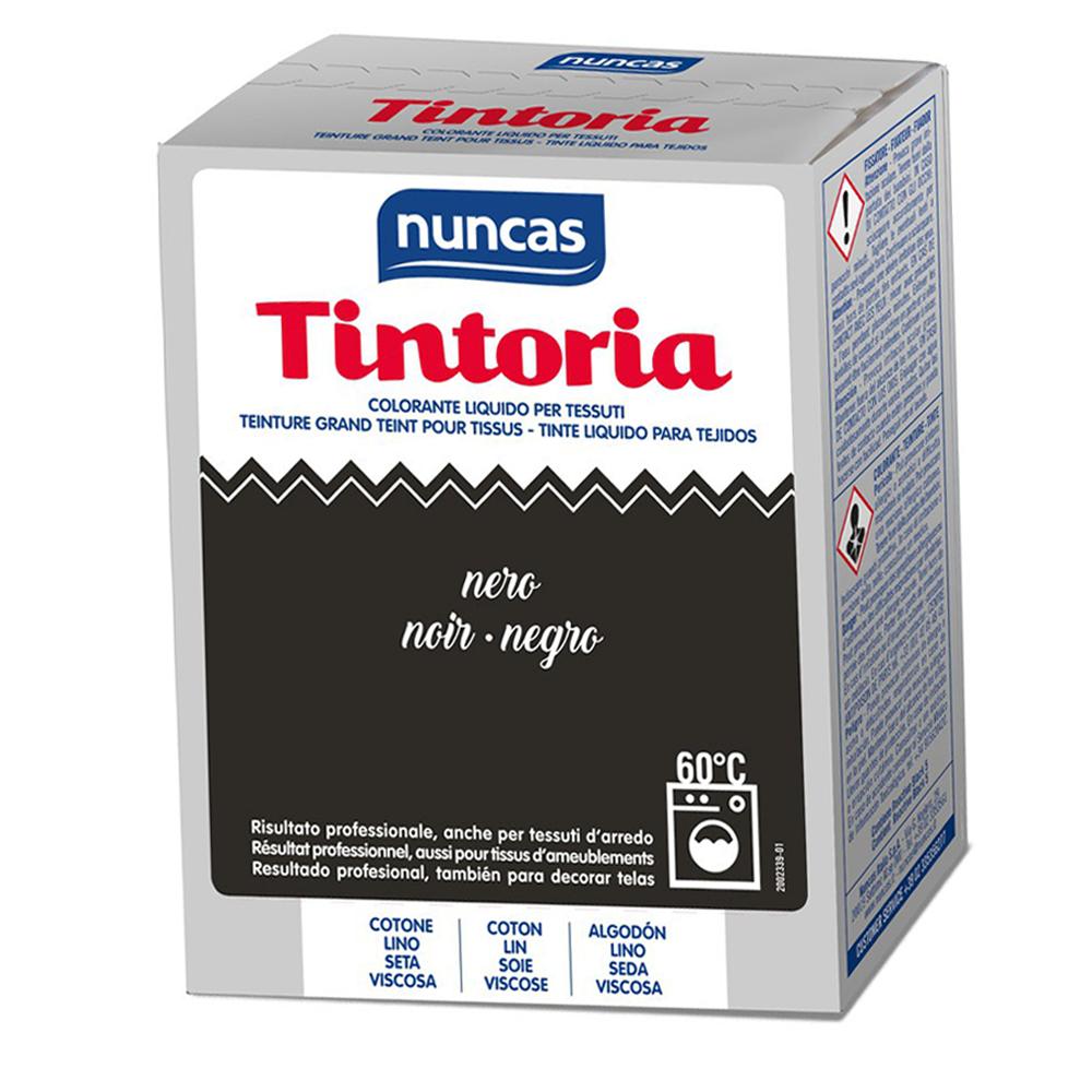NUNCAS Tintoria Colorante Liquido Tessuti Nero 100 ml
