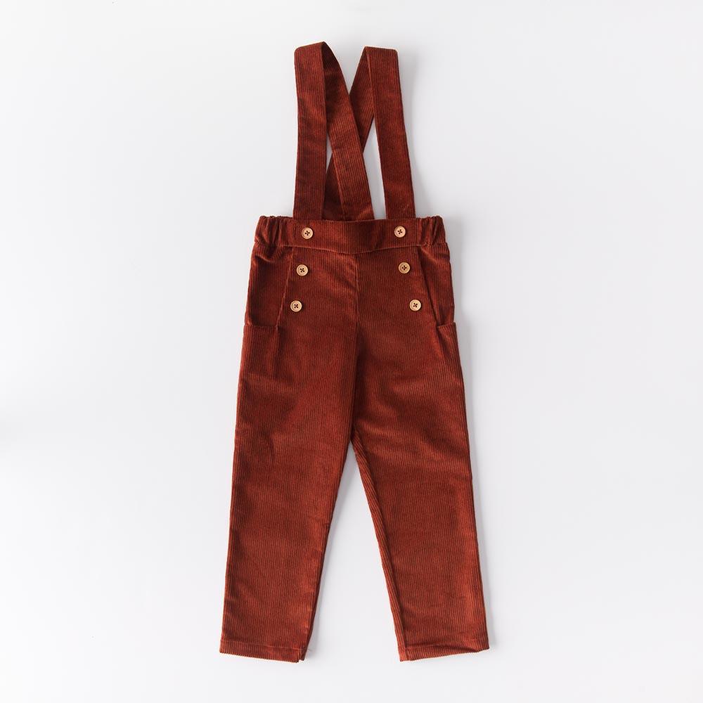 Pantalone in velluto di cotone biologico color ruggine