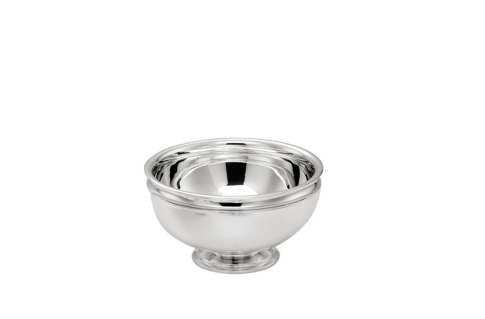 Alzata tonda con base argentata argento stile Cardinale cm.13h diam.24