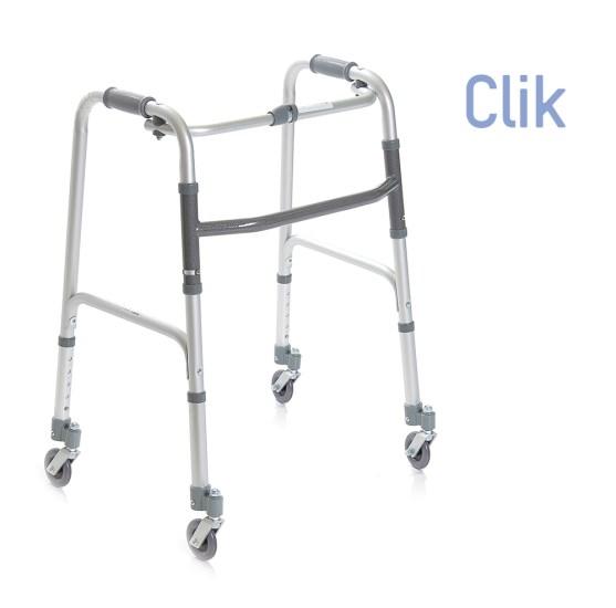 Deambulatore pieghevole con ruote