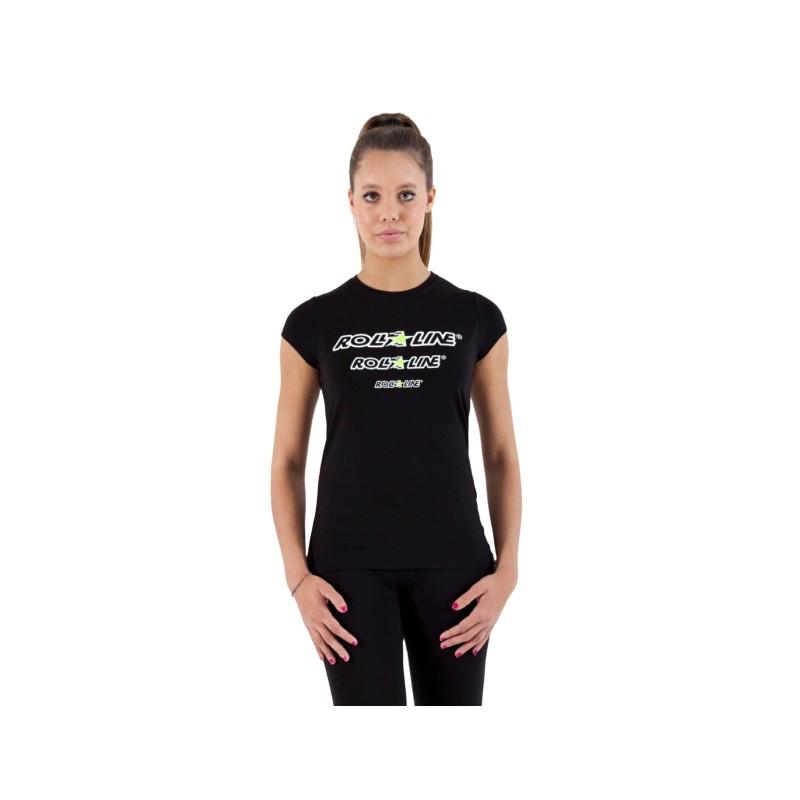 T-Shirt Donna Roll Line Nero