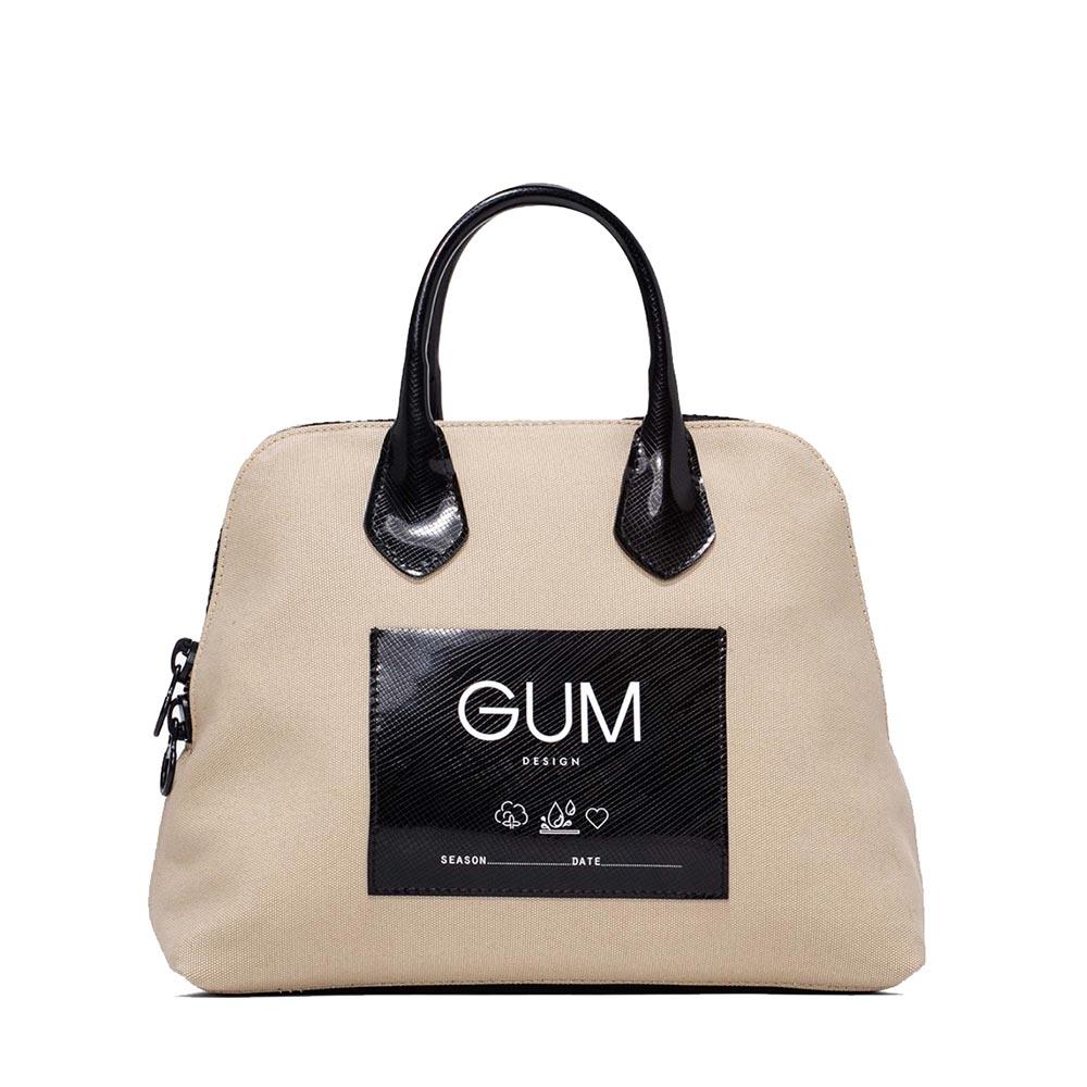 Borsa a mano small canvas beige - GUM Design