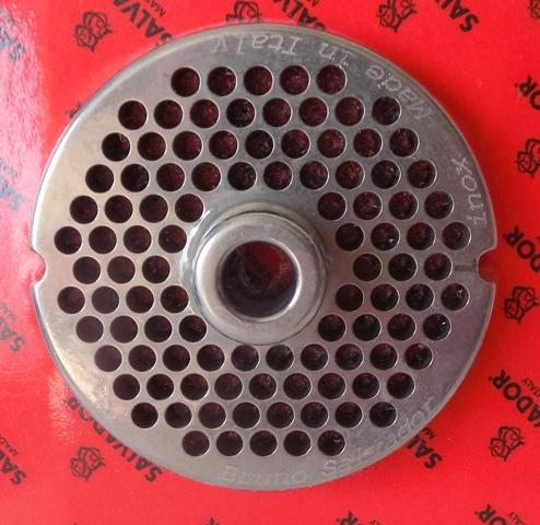 Piastre in acciaio inox per tritacarne N° 22 fori mm.5/6/8/12/14/16/18/20