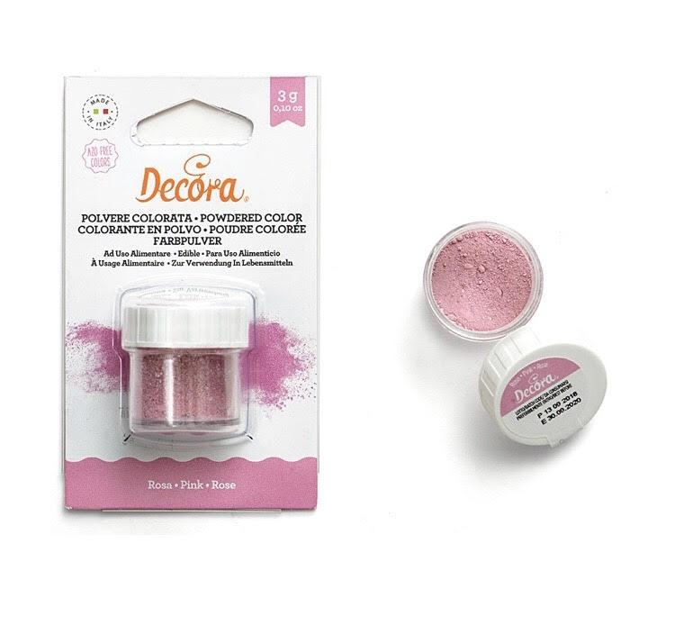 Polvere colorata rosa - Perlescente