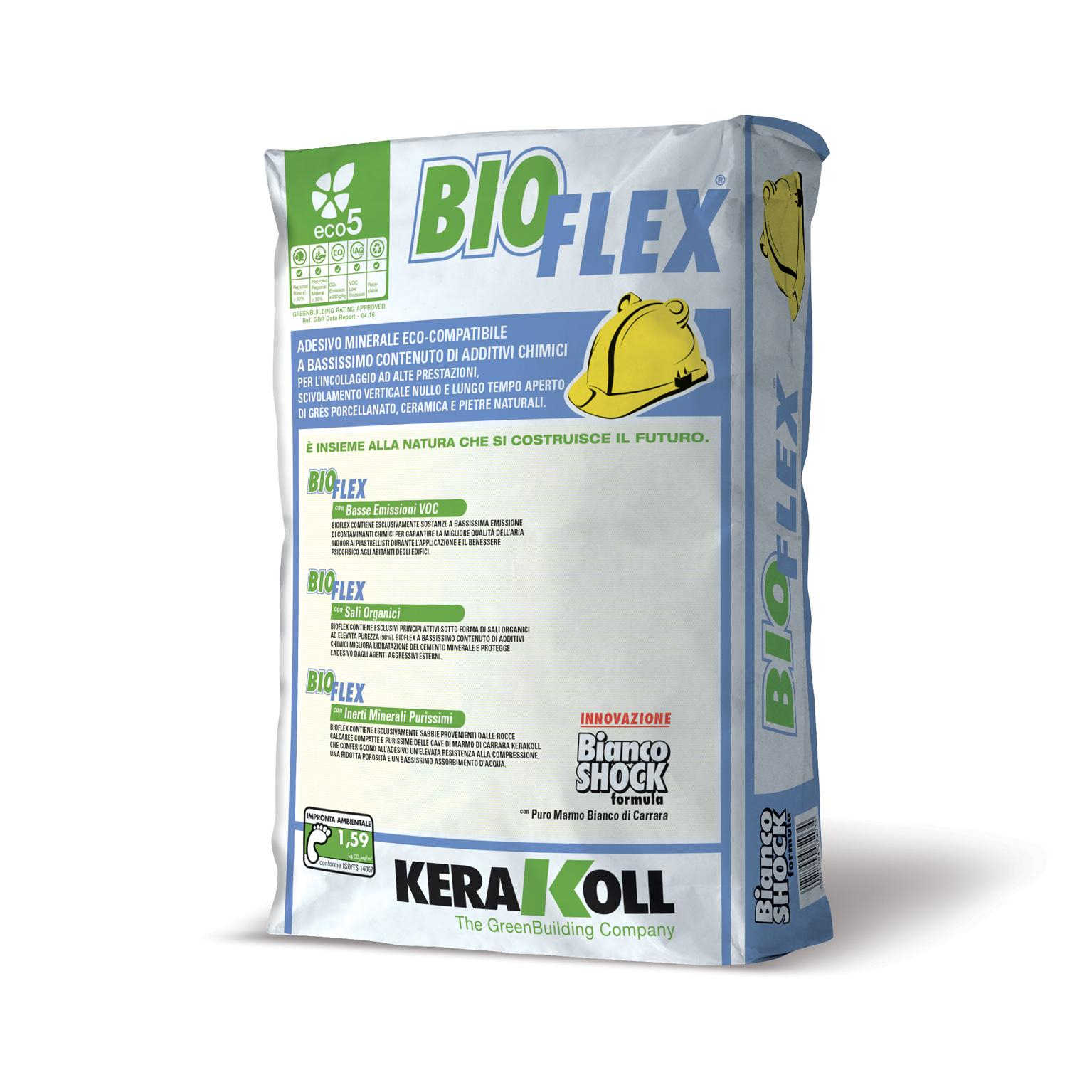 Kerakoll bioflex adesivo eco compatibile bianco 25kg