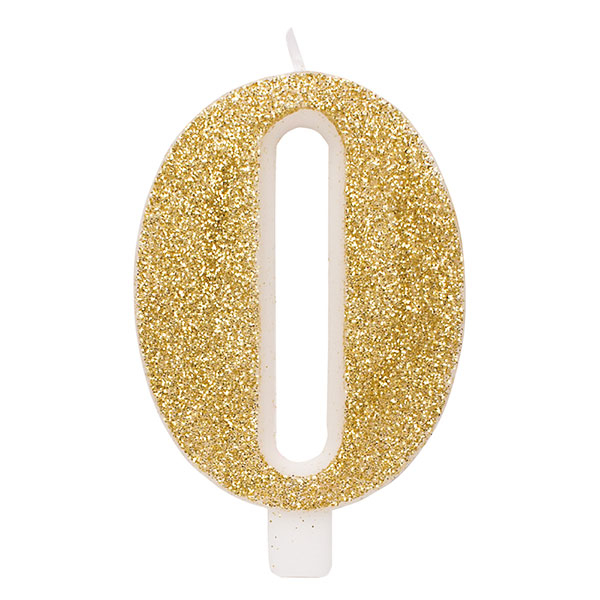 Candeline glitter oro 15 cm