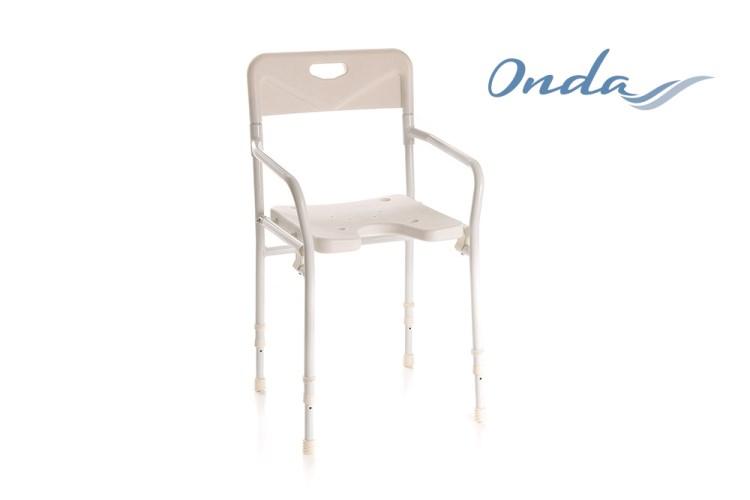 Seduta per doccia con schienale