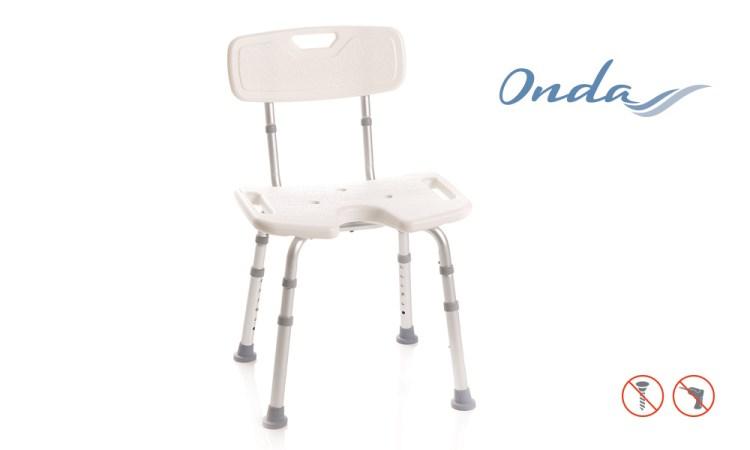 Sedile per doccia con seduta a U e schienale