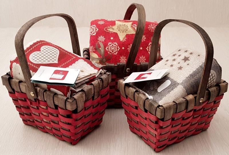 Cestino+ tovaglia natalizia